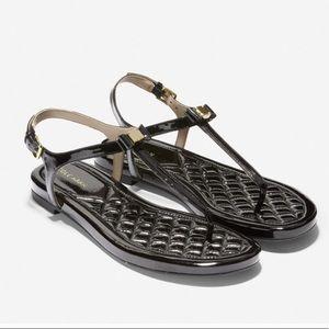 Cole Haan Tali mini bow sandals in black